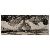 150×352 リフトグランド 墨(雁皮刷)